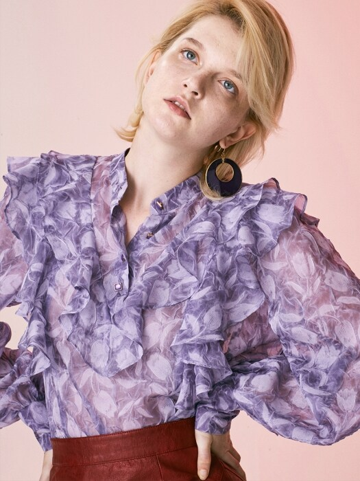 SEE-THROUGH FRILL BLOUSE_PURPLE